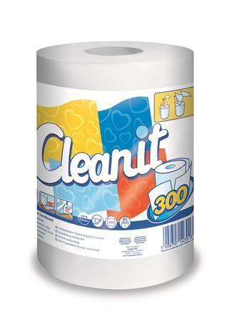 """Papierové utierky, univerzálne, 2 vrstvové, LUCART """"CLEANIT 300"""", biele"""
