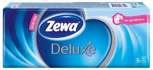 """Papierové vreckovky """"Delux"""" bez vône, 10x10 ks"""