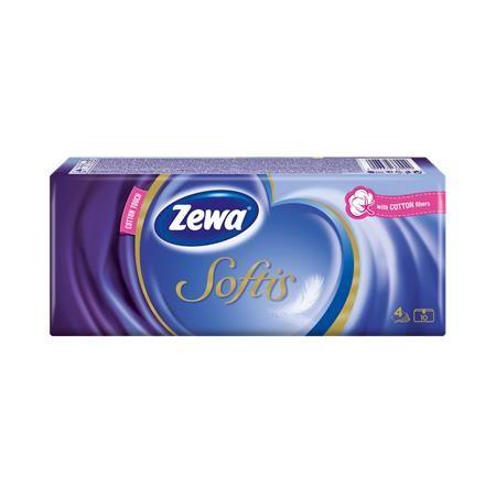 Papierové vreckovky Zewa softis, 10x10