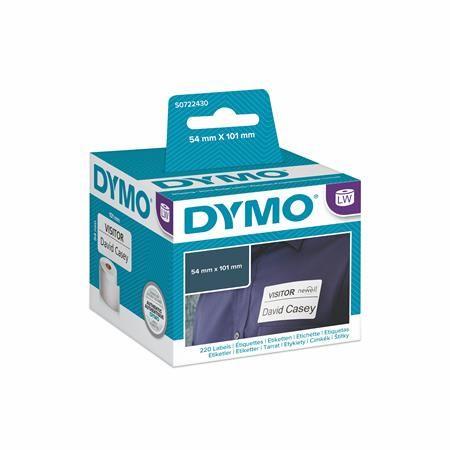 Páska s etiketami ku DYMO EL60, biela, 220ks/kotúč