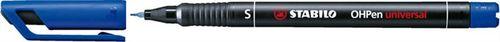 """Permanentný popisovač, 0,4 mm, STABILO """"OHPen S"""", modrý"""