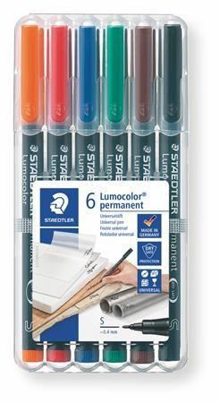 """Permanentný popisovač, 0,4 mm, STAEDTLER """"313"""", 6 rôznych farieb"""