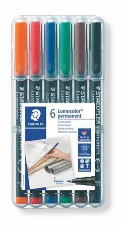 """Permanentný popisovač, 0,6 mm, STAEDTLER """"318"""", 6 rôznych farieb"""