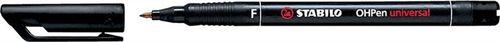 """Permanentný popisovač, 0,7 mm, STABILO """"OHPen F"""", čierny"""
