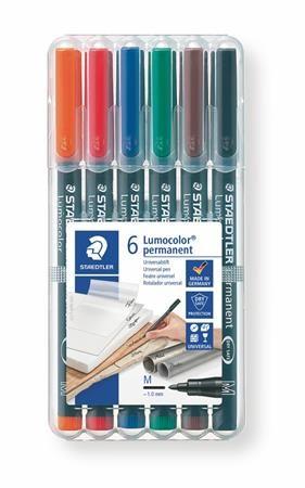 """Permanentný popisovač, 0,8-1 mm, STAEDTLER """"317"""", 6 rôznych farieb"""