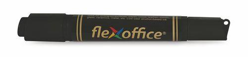 """Permanentný popisovač, 0,8/6,0 mm, kužeľovitý/zrezaný, obojstranný, FLEXOFFICE """"PM04"""", čie"""