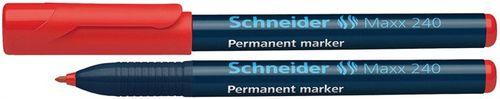 "Permanentný popisovač, 1- 2 mm, kužeľový hrot, SCHNEIDER ""240"", červený"