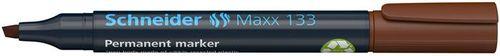 """Permanentný popisovač, 1-4 mm, zrezaný hrot, SCHNEIDER """"Maxx 133"""", hnedý"""