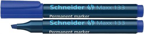 """Permanentný popisovač, 1-4 mm, zrezaný hrot, SCHNEIDER """"Maxx 133"""", modrý"""