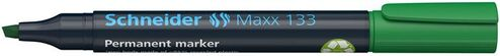 """Permanentný popisovač, 1-4 mm, zrezaný hrot, SCHNEIDER """"Maxx 133"""", zelený"""