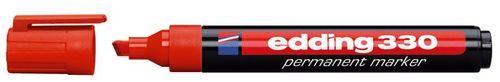 """Permanentný popisovač, 1-5 mm, zrezaný hrot, EDDING """"330"""", červený"""