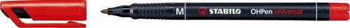 """Permanentný popisovač, 1 mm, STABILO """"OHPen M"""", červený"""