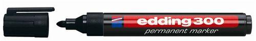 """Permanentný popisovač, 1,5-3 mm, kužeľový, EDDING """"300"""", čierny"""