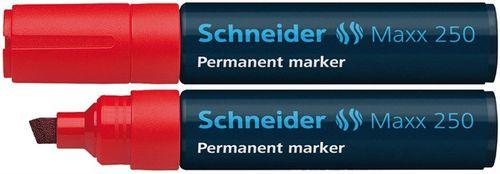 """Permanentný popisovač, 2-7 mm, zrezaný hrot, SCHNEIDER """"Maxx 250"""", červený"""