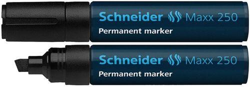 """Permanentný popisovač, 2-7 mm, zrezaný hrot, SCHNEIDER """"Maxx 250"""", čierny"""