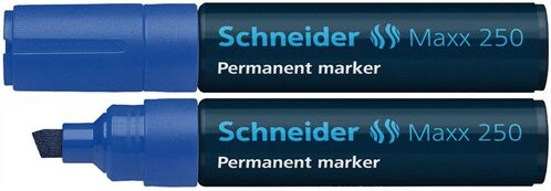 """Permanentný popisovač, 2-7 mm, zrezaný hrot, SCHNEIDER """"Maxx 250"""", modrý"""