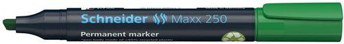 """Permanentný popisovač, 2-7 mm, zrezaný hrot, SCHNEIDER """"Maxx 250"""", zelený"""