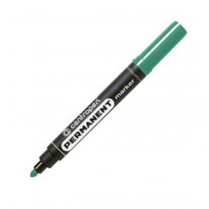 Permanentný popisovač Centropen 8566 zelený