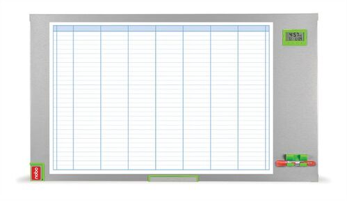"""Plánovacia tabuľa, týždenná, smaltovaná, 60x110 cm, NOBO """"Performance"""""""