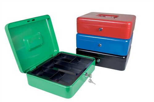 Pokladnička, 200 x 160 x 90mm, DONAU, zelená