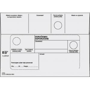 Poštové obálky B6 doručenka, biele, 1000 ks