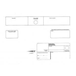 Poštové obálky C4 s páskou, doručenka, biele, 250 ks