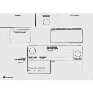 Poštové obálky C5 doručenka, biele, 100 ks