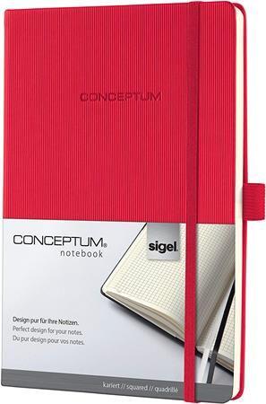 """Poznámkový blok, exkluzívny, A4, štvorčekový, 194 strán, tvrdá obálka, SIGEL """"Conceptum"""","""