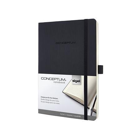 """Poznámkový blok, exkluzívny, A5, štvorčekový, 194 strán, s mäkkou obálkou, SIGEL """"Conceptu"""