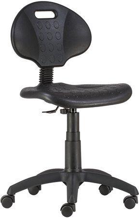 """Pracovná stolička, plynový piest, s operadlom, plastová, """"1290"""", čierna"""