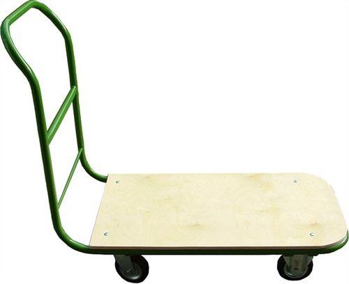 Prepravný vozík, ručný, nosnosť: 200 kg, zelený/hnedý