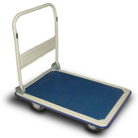 Prepravný vozík, skladateľný, nosnosť:300 kg, modro-biely