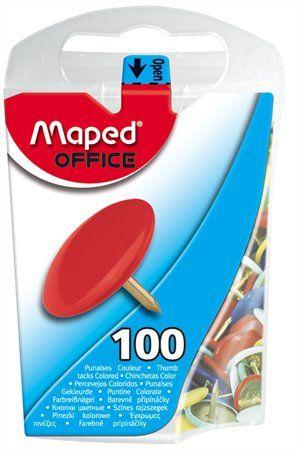 Pripináčky, 100 ks, MAPED, farebné