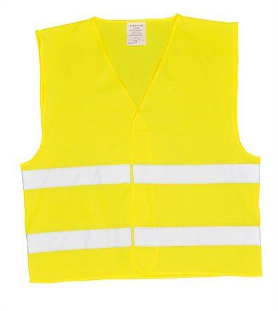 Reflexná vesta, 2 pásy, podľa noriem EU, L/XL