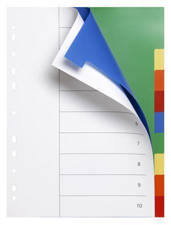 Register, plastový, A4, 10 dielny, VICTORIA, farebná