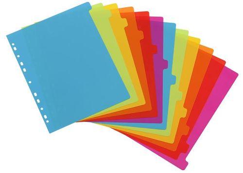 "Register, plastový, A4 maxi, 12 dielny, VIQUEL, ""Happy Fluo"", plastový"
