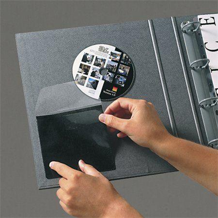 Samolepiace vrecko na CD s antistatickou vložkou 127x127 mm