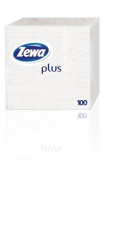 Servítky Zewa, 100 ks, biele