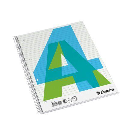 Špirálový zošit, A4, linajkový, 70 listov, ESSELTE