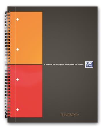 """Špirálový zošit, A4+, štvorčekový, 100 listov, OXFORD, """"International Filingbook"""""""