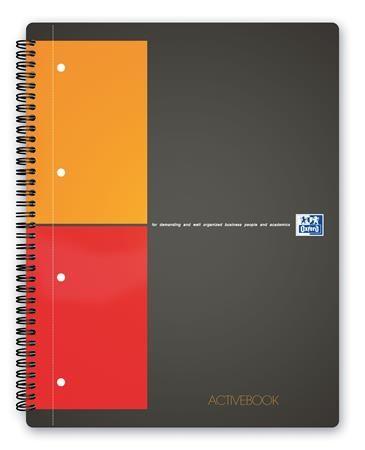 """Špirálový zošit, A4+, štvorčekový, 80 listov, OXFORD, """"International Activebook"""""""