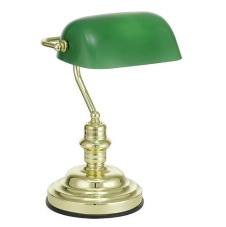 """Stolová lampa, 60 W, """"Banker"""", zelená"""
