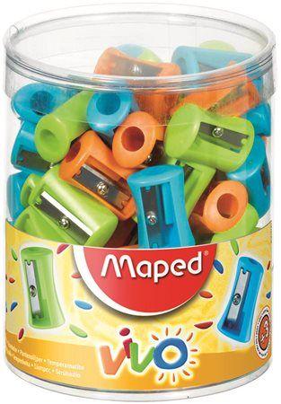 """Strúhadlo, displej, jednodierové, MAPED """"Vivo"""", mix farieb"""