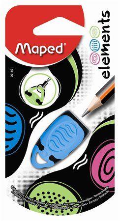 """Strúhadlo, jednodierové, MAPED """"Elements"""", mix farieb"""