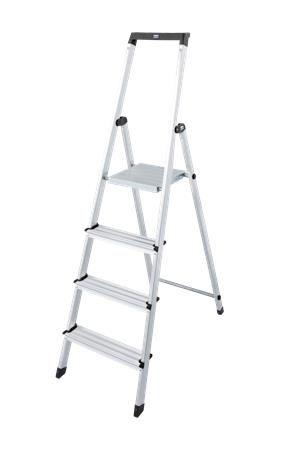 """Stupňovitý rebrík, """"Solidy"""", 4 schodíky, hliníkový"""