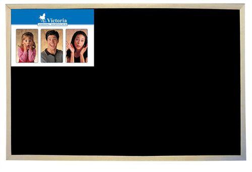 Tabuľa popisovateľná kriedou, čierny povrch, nemagnetická, 30x40 cm, drevený rám, VICTORIA