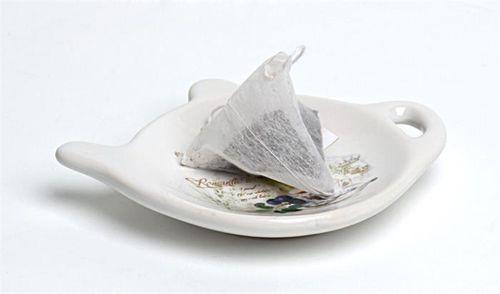 Tanierik na čajové filtre, 10x9x2 cm, levandula