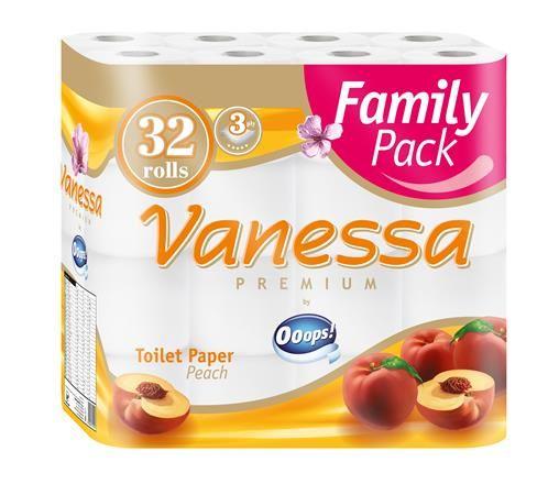 """Toaletný papier, 3 vrstvový, 32 kotúčov, """"Vanessa"""""""