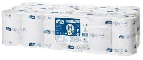 """Toaletný papier, bez vnútorného jadra, 1 vrstvový, mid-size, TORK """"Universal"""""""