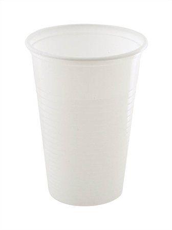 Plastový pohár, 3 dl, biely